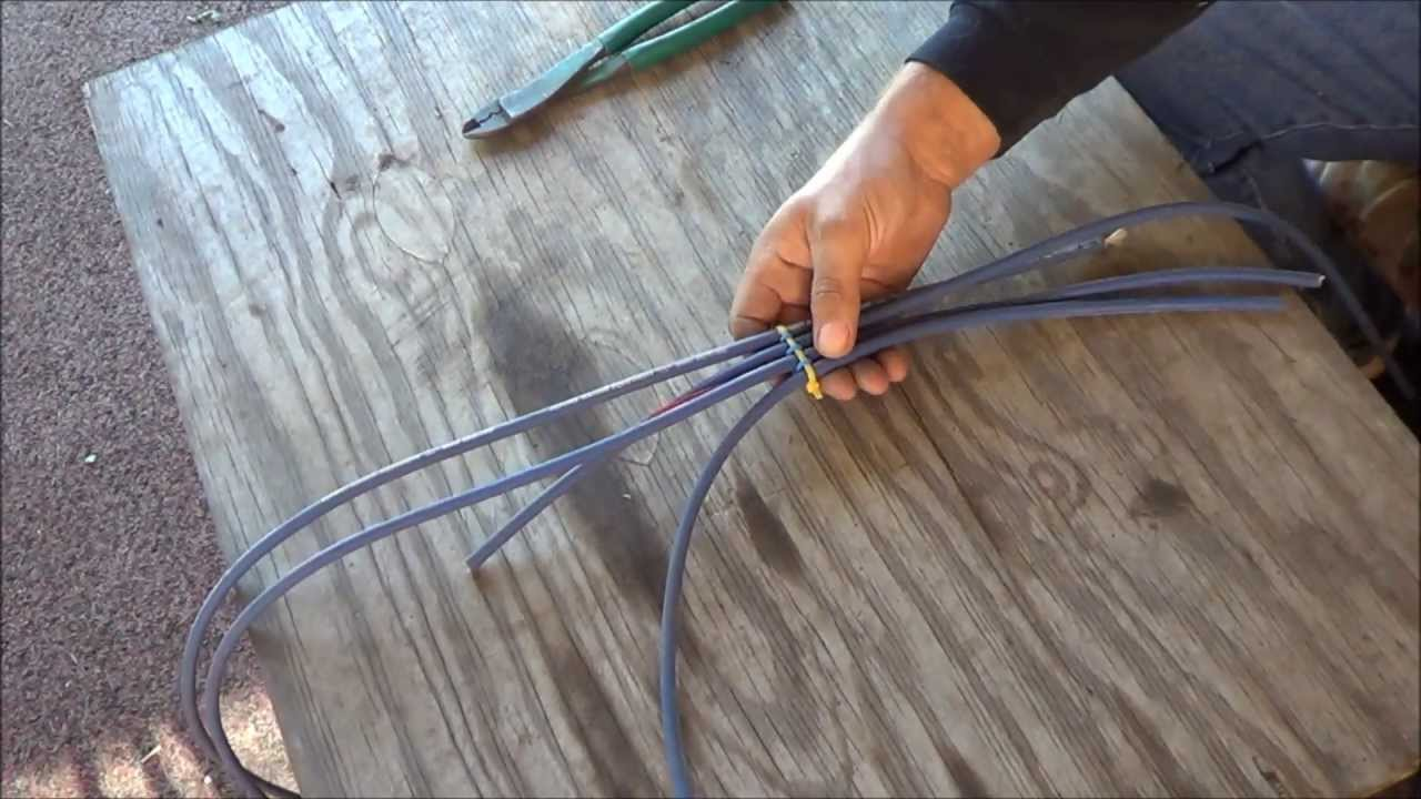 Spark Plug Wire Looms Out of Zip Ties - YouTube