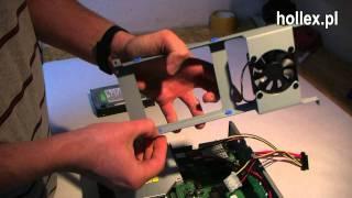 Montaż nagrywarki DVD oraz dysku w odbiorniku Dreambox 8000HD PVR