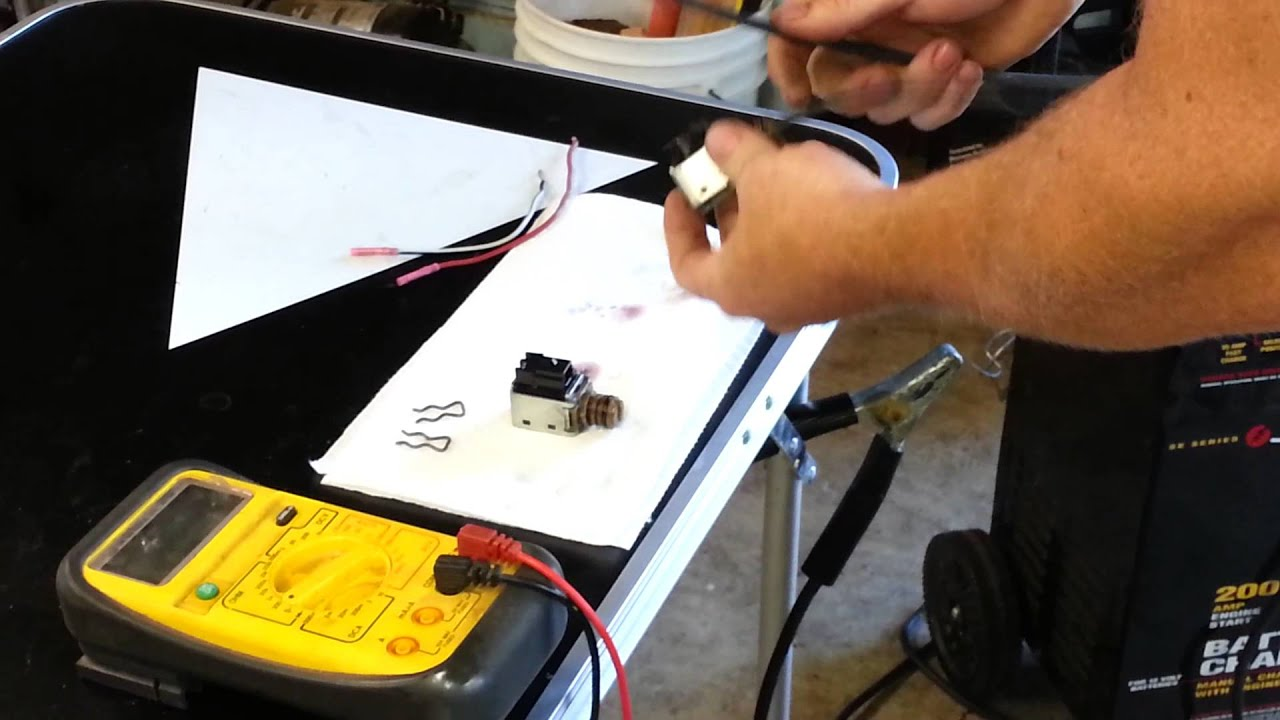 How to test shift solenoid 4L60E  YouTube