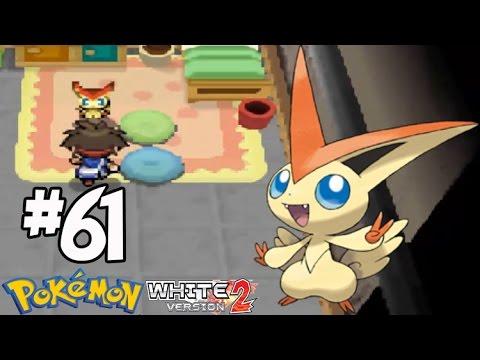 Pokemon Volt White 2 #61  จับ วิคทินี่ โปเกม่อนในตำนาน  ( Victini )