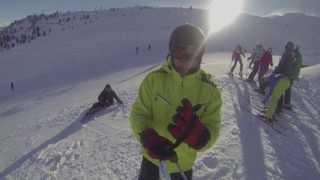 Alps zillertal ski gopro3 2014.01.29 Hochzillertal HD