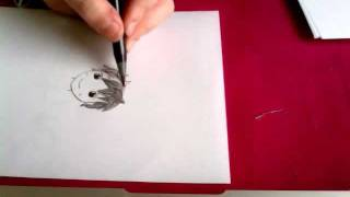 How to draw and ink in manga boy!