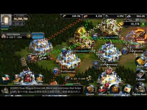 King of Avalon - KVK Big Fight   K233 & K162 Attacked K80