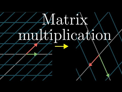 Matrix multiplication as composition | Essence of linear algebra, chapter 4