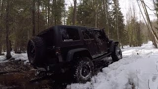 Сломали Rubicon, Очень Много Снега Весной В Лесу, Suzuki, Niva, Jeep