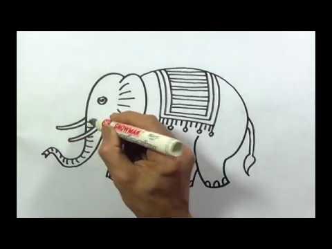 88+ Cara Gambar Hewan Gajah Gratis