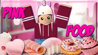 I ONLY ate PINK FOOD for 24 HOURS!! || Roblox Bloxburg