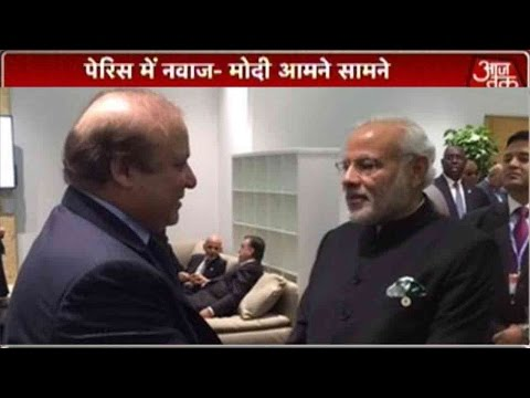 Narendra Modi Meets Nawaz Sharif In Paris
