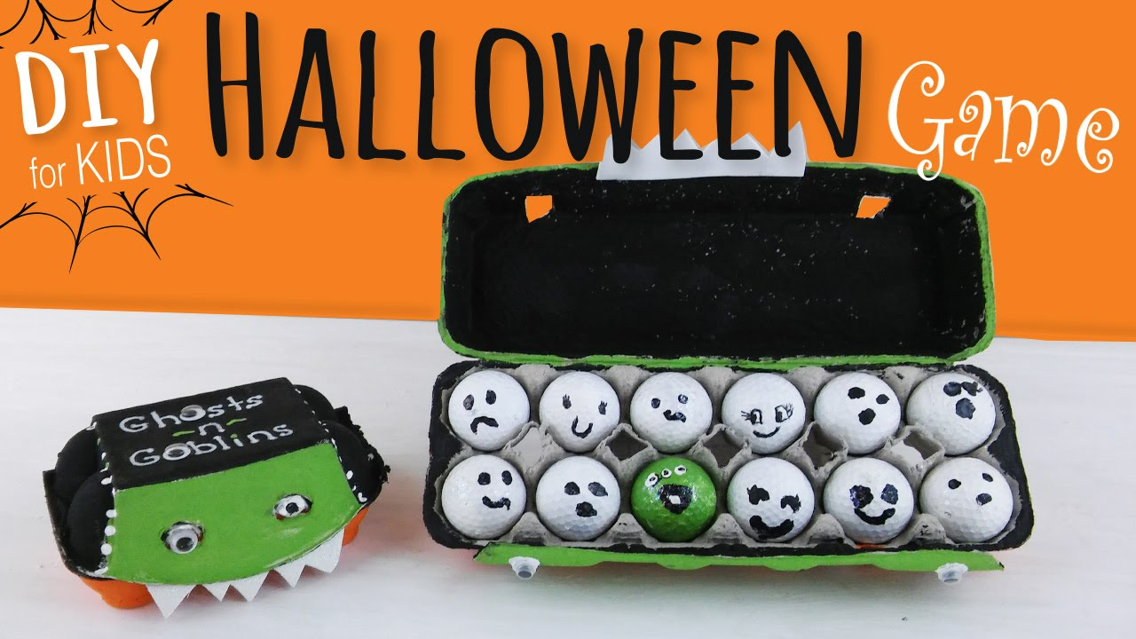 easy diy halloween party game for kids egg carton golf ball craft youtube