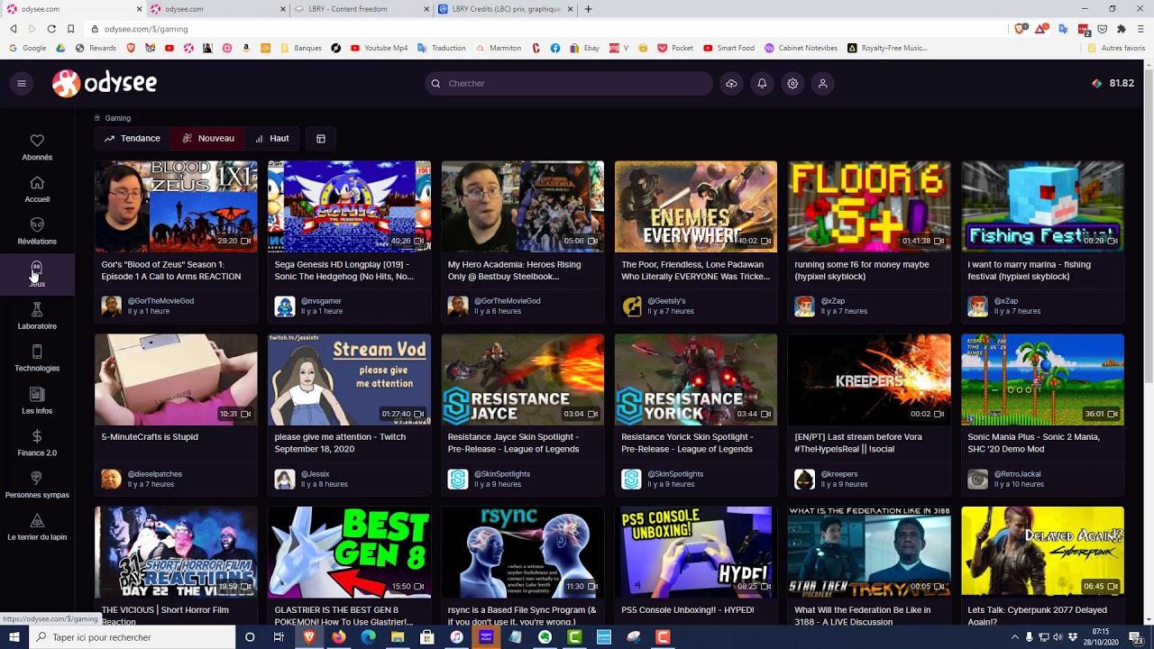 Odysee: le concurrent de Youtube basé sur la blockchain