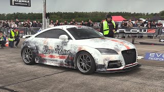 During last weekend race1000 i have filmed a crazy fast 1300hp audi tt-rs by don-octane! it is modified with r32 engine, gtx55 turbo, dog box don octane 6 ...