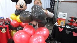 escultura de mickey mouse en globo por graciela noemi sanabria curso de decoracion con globos 707