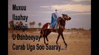 Muxuu Ilaahay Nebigii U Danbeeyay Carab Uga Soo Saaray...?!