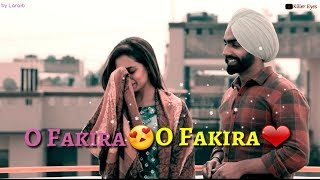 Very Sad Whatsapp Status || Fakira Ammy Virk Sargun Mehta || Qismat || New Punjabi Song