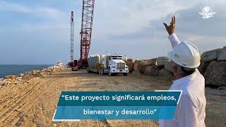 Pese a la veda electoral, el titular del Ejecutivo federal garantizó que este proyecto significará empleos, bienestar y desarrollo para el país