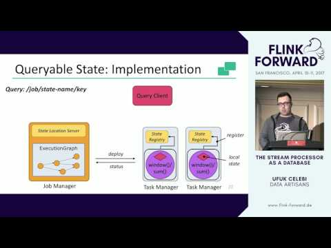 #FlinkForward SF 2017: Ufuk Celebi - The Stream Processor as a Database