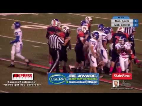 Madison Southern High School football vs Madison Central High School October 28, 2016