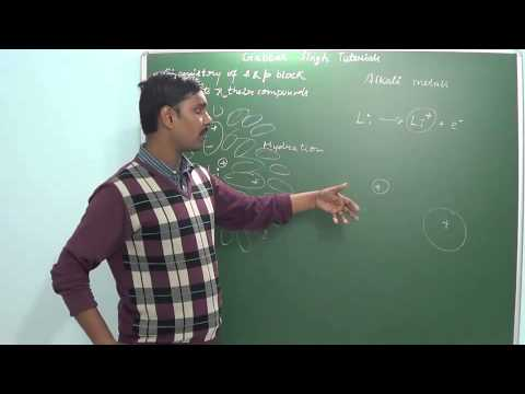 1.6 Alkali metals Part 1 (s and p block elements)