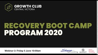 Growth Club Recovery Boot Camp Webinar 3 - Leading Change