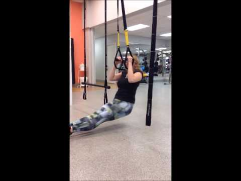 7ff7404ed84 Modified Pull Up with the TRX Suspension Trainer. The Women s Club Health  and Fitness Center