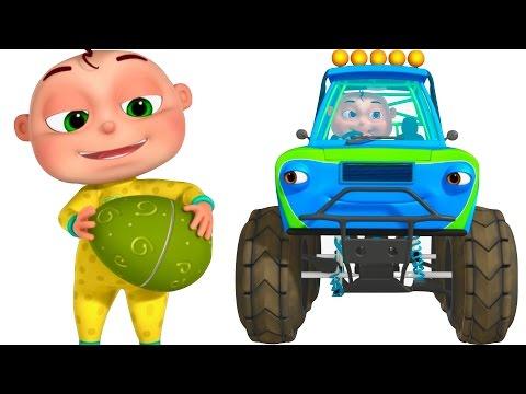 Five Little Babies Driving Transport Vehicles | Surprise Eggs Kids | Monster Truck Fire Truck