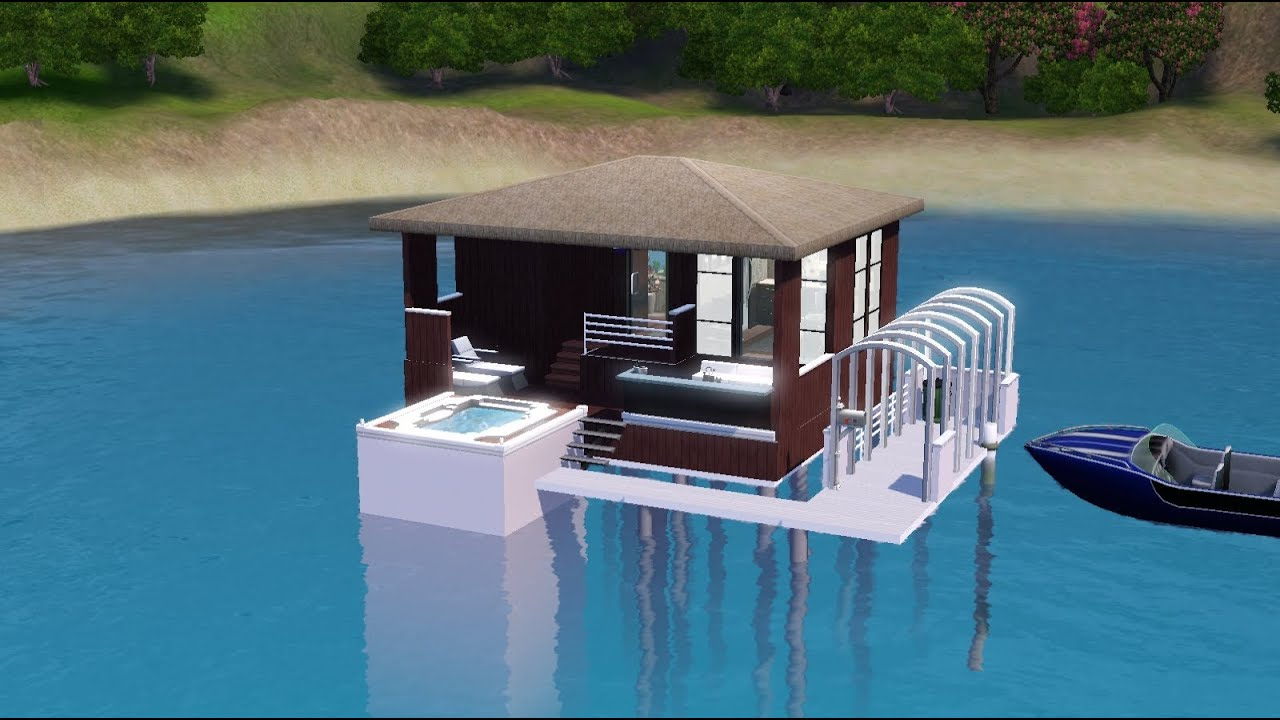 The sims 3 house building modern tiny