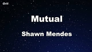 Mutual - Shawn Mendes Karaoke 【With Guide Melody】 Instrumental