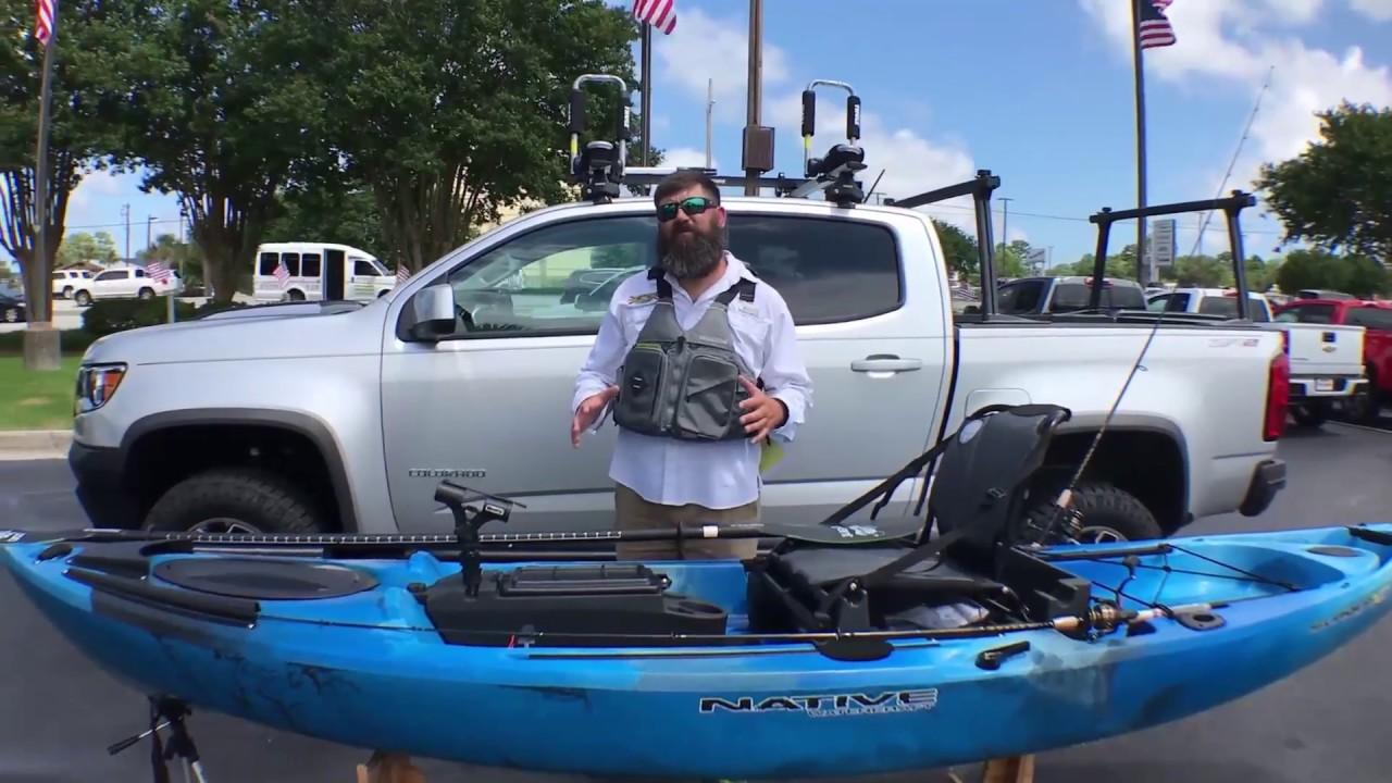 Native Slayer 12 XC Fishing Kayak Meets Chevy Colorado ZR2
