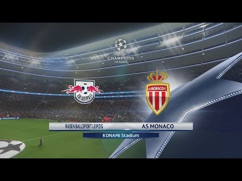 PES 2018 (PS4 Pro) RB Leipzig v AS Monaco UEFA CHAMPIONS LEAGUE 13/09/2017 REPLAY 1080P 60FPS