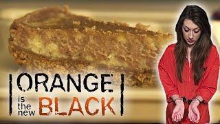 Orange Is The New Black - Chocolate Orange And Vanilla Swirl Cheesecake | Tv Dinners