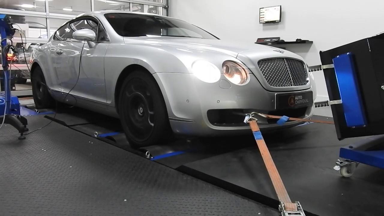 Bentley Continental W12 6.0 Bi Turbo On Dyno @ Auto Chippen.nl Tilburg