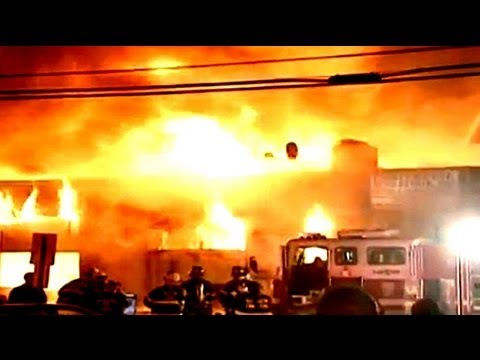 Fire destroys building in New Jersey