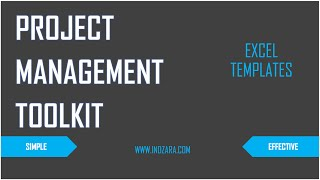 Project Management Toolkit - Excel Templates - Introduction