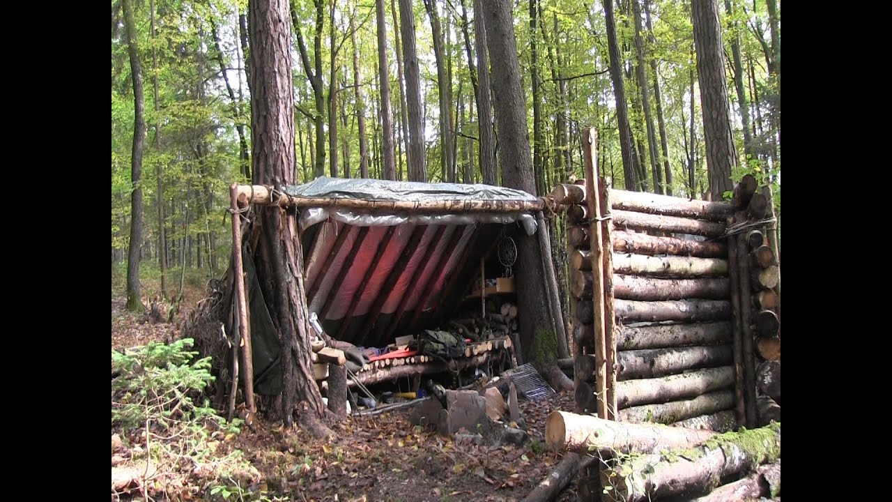 how to build car shelter out of logs