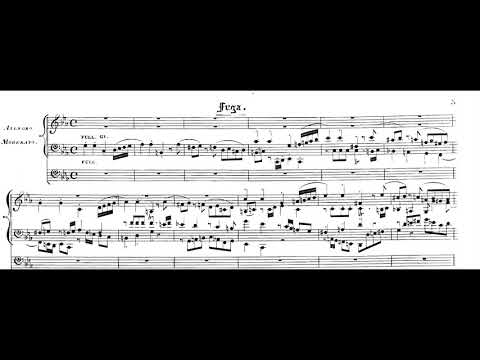 Wolfgang Amadeus Mozart - Grand Introduction And Fugue For Organ, KV. 546 (1788) [Score-Video]