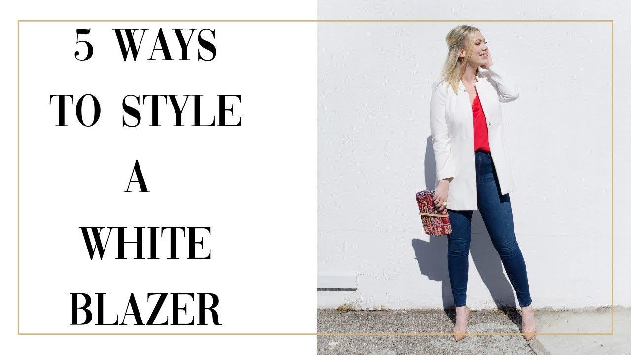 7914fe152ba 5 WAYS TO WEAR A WHITE BLAZER  tips from a stylist - YouTube