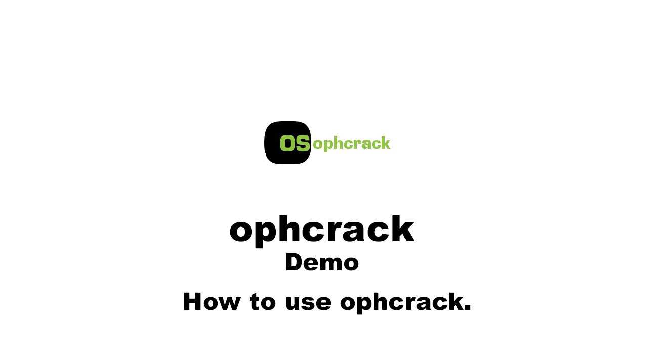How to Use Ophcrack