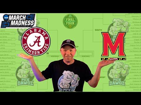 Alabama vs Maryland 3/22/21 Free College Basketball Pick and Prediction NCAA Tournament