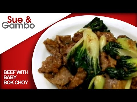 Beef with Baby Bok Choy Stir Fry