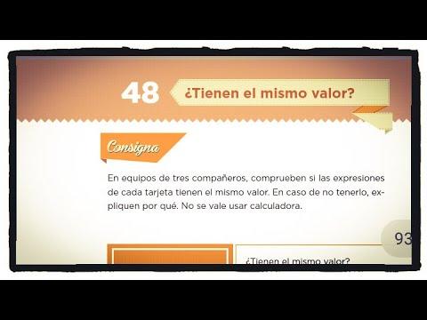 Desafío 48 ¿Tienen el mismo valor? página 92 y 93 del