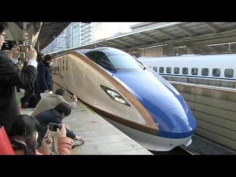 Japón inaugura un nuevo trayecto del famoso 'tren bala'
