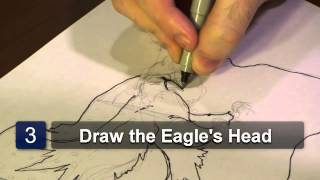 How to Draw an Eagle With an American Flag