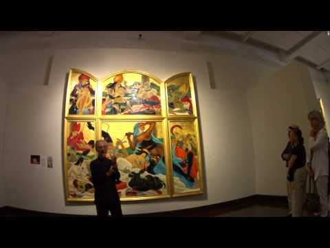 Artist Masami Teraoka at Honolulu Museum of Art