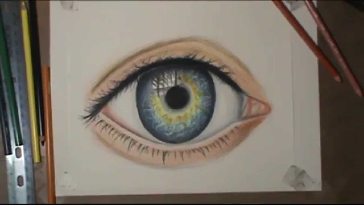 youtube how to draw a realistic eye