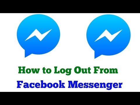 How To Logout From Facebook Messenger 2019 || LOG OUT FROM MESSENGER ||