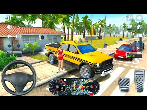 Big Pickup SUV Taxi Driving Sim 2020 #4 - Ultimate Taxi Driver - Android  Gameplay