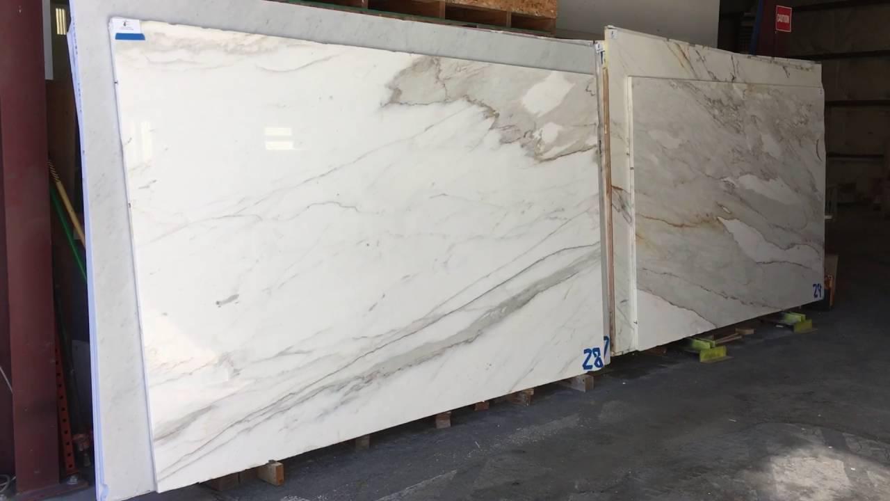Calacatta gold Marble slabs - YouTube