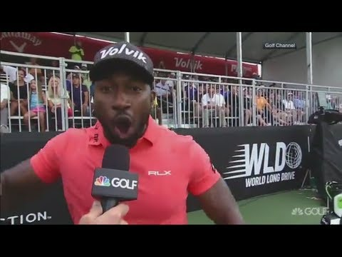 Golfer Does Amazing Ric Flair Impersonation Before Smashing 483-Yard Drive | ESPN
