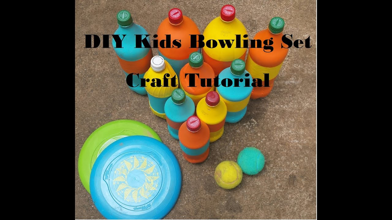 diy kids bowling set craft tutorial youtube