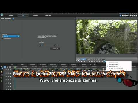 PowerDirector 10 Tutorial - Come convertire video e foto 2D in 3D
